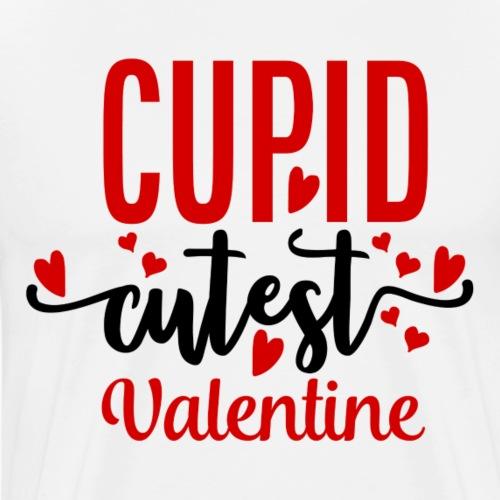Cupid Cutest Valentine - Mannen Premium T-shirt