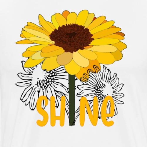 Shine sunflower - Mannen Premium T-shirt