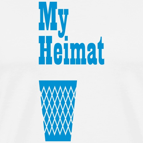 My Heimat Hessen - Geripptes - Männer Premium T-Shirt