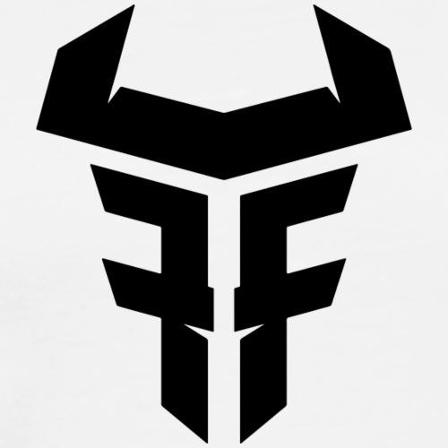 Fit Fight Bull Logo black small - Männer Premium T-Shirt