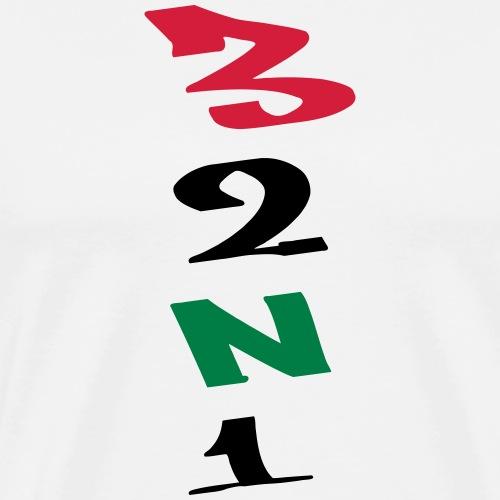 3 Gänge Gears Graffiti V-Form - Männer Premium T-Shirt
