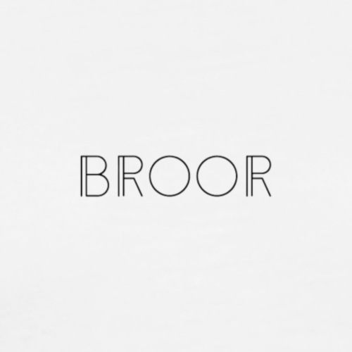 BROOR logo 1 and 6 - Mannen Premium T-shirt