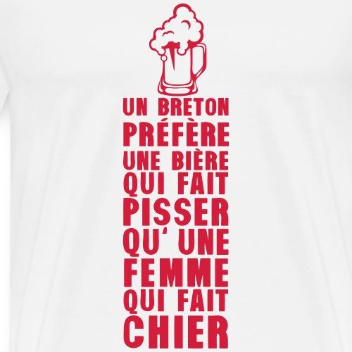 breton prefere biere pisser femme fait 2 - T-shirt Premium Homme