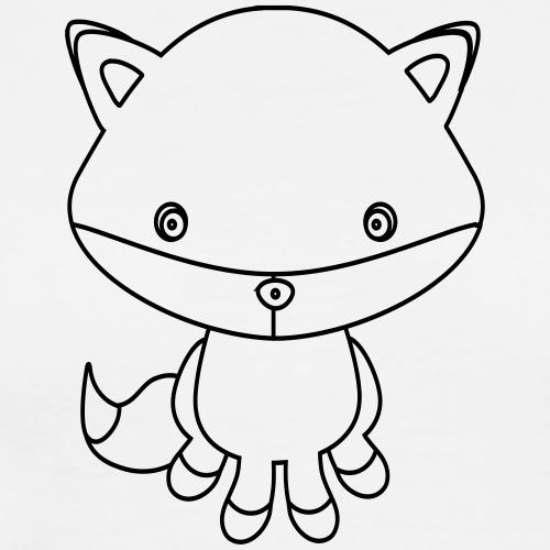 Clip Art 4 Kids - Fuchs - Männer Premium T-Shirt