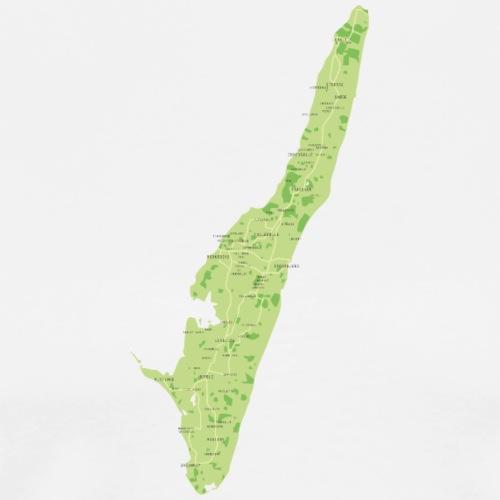 Langeland landkort - Herre premium T-shirt