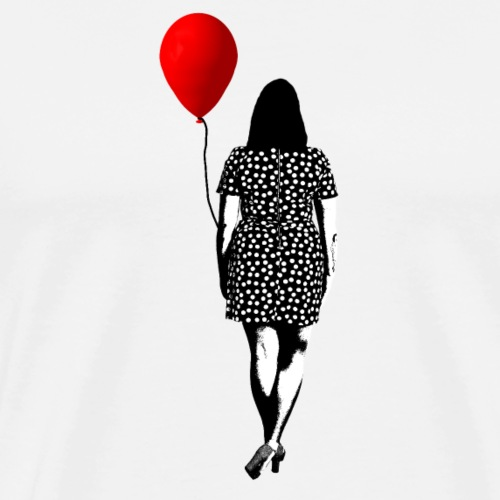 Woman with balloon - Premium-T-shirt herr