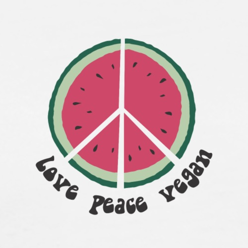 love peace vegan watermelon - Männer Premium T-Shirt