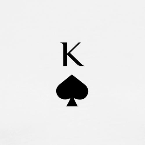 Sportlicher König Pik Poker Casino Print - Männer Premium T-Shirt