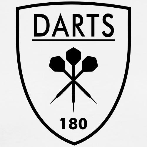 Darts Crest - Dart Wappen - Männer Premium T-Shirt