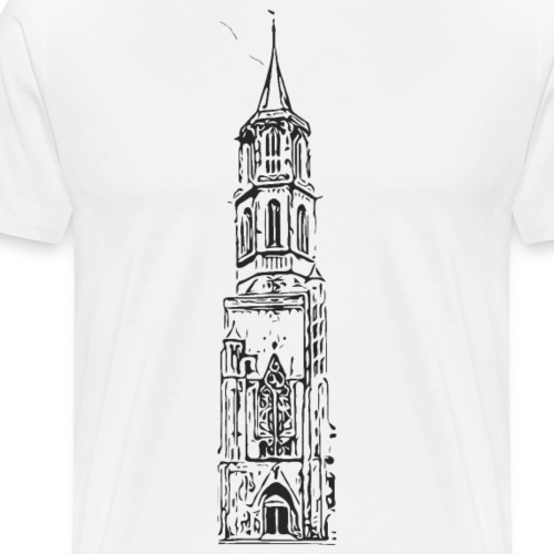 Kapellenturm Rottweil Grafik schwarz - Männer Premium T-Shirt