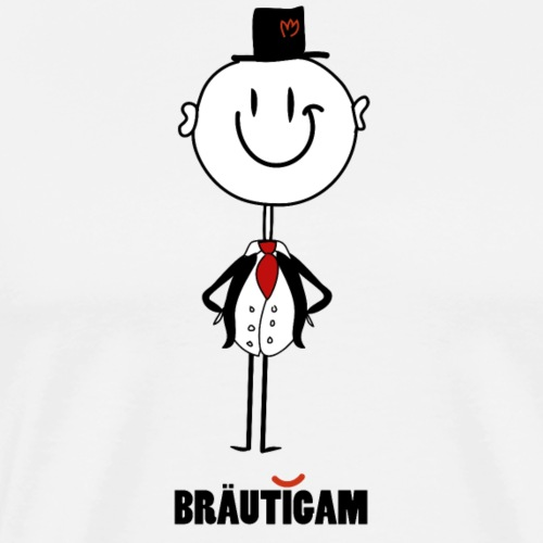 Bräutigam Smilie - Männer Premium T-Shirt