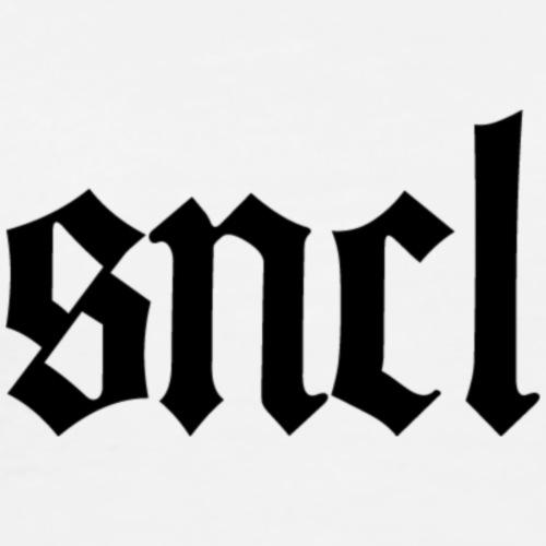 SNCL Retro Schwarz - Männer Premium T-Shirt