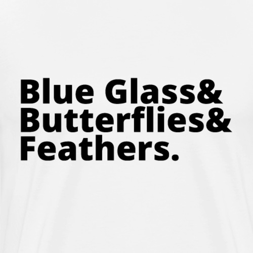 Blue Glass&Butterflies&Feathers (Black)