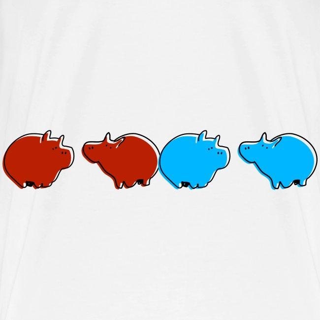 Cochons bleus