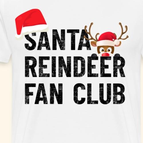 Weihnachtsmann Rentier Rudolf Fan Club Santa Claus - Männer Premium T-Shirt