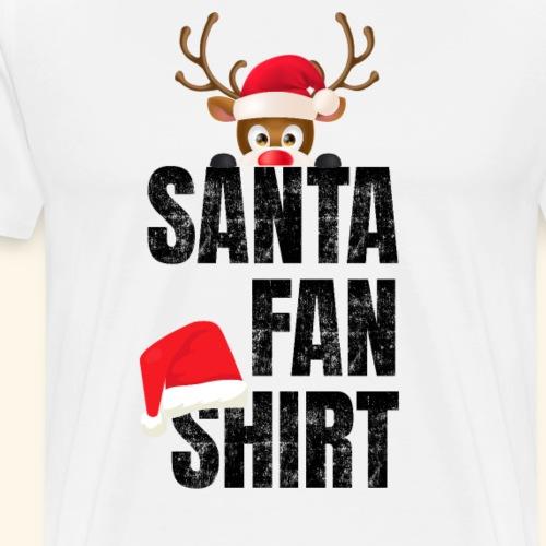 Weihnachtsmann Santa Fan Shirt Rentier Rudolf - Männer Premium T-Shirt