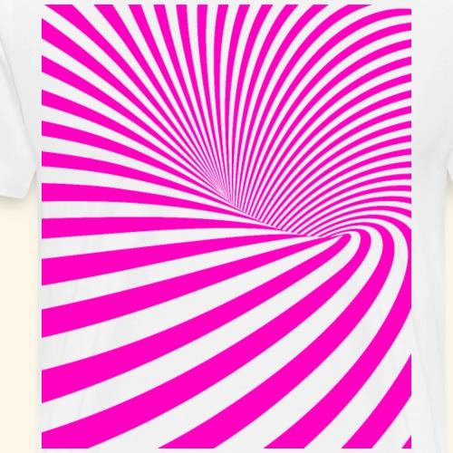 Vortex Pink Tornado - Männer Premium T-Shirt