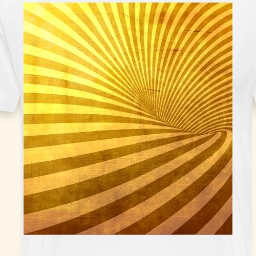 Goldener Vortex Strudel - Männer Premium T-Shirt