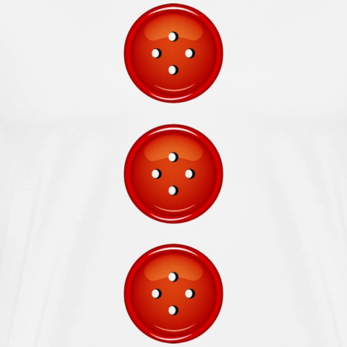 3 rote Knöpfe Knopf Buttons modische Accessoires - Men's Premium T-Shirt
