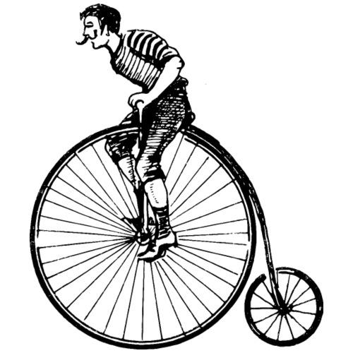 Hochrad - Männer Premium T-Shirt