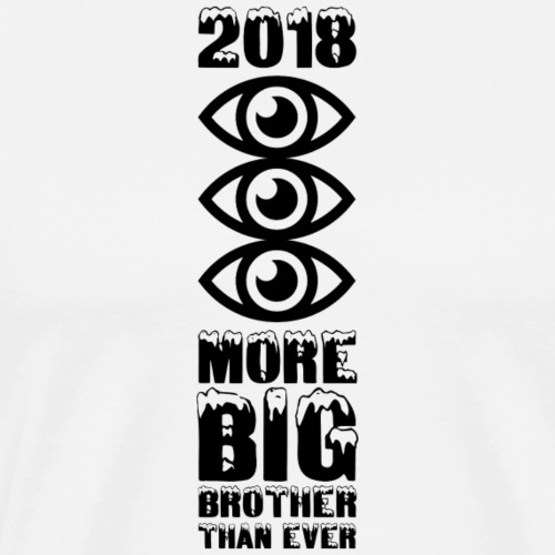 MORE BIG BROTHER THAN EVER - Männer Premium T-Shirt