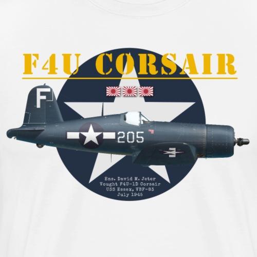 F4U Jeter VBF-83 - Men's Premium T-Shirt