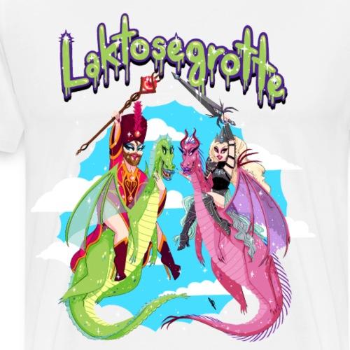 Laktosegrotte Eventyr Look - Herre premium T-shirt