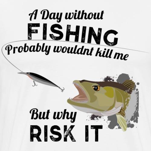 Zanderattacke Fishyworm Angeln Fisch Zander A Day - Männer Premium T-Shirt