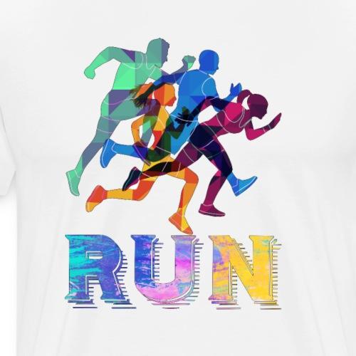 Modern Running Color Look - Men's Premium T-Shirt