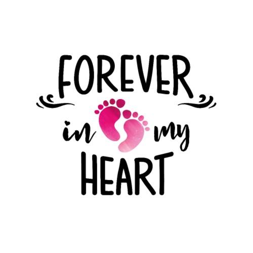 19 Girl im Herzen POSverstorbenes Baby Liebe Herz - Männer Premium T-Shirt
