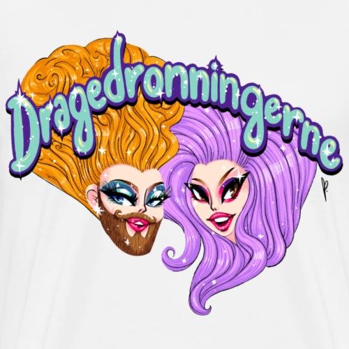 Dragedronningerne Closeup - Herre premium T-shirt