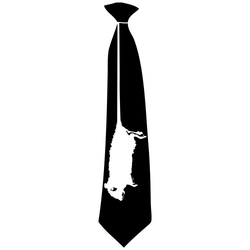 rat cravate - T-shirt Premium Homme