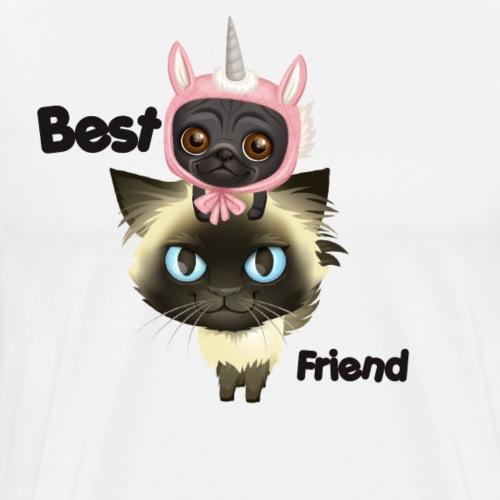 Best friend by BrightSoull. - Premium T-skjorte for menn