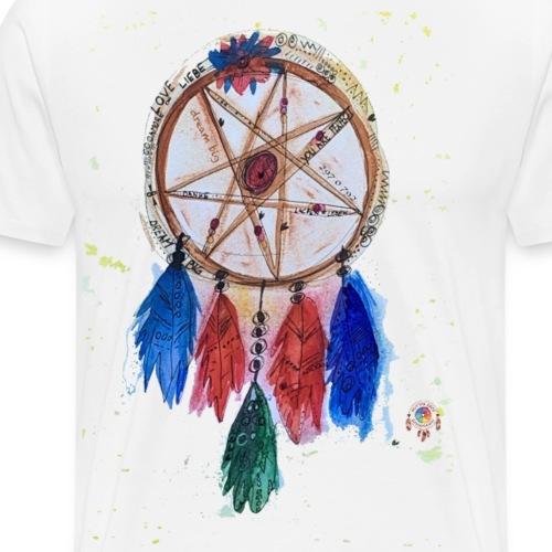 Schamanen Traumfänger Dream Big Kraftbild - Männer Premium T-Shirt