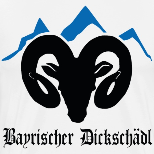 Widder Berg bayrischer Dickschädel Sturkopf - Männer Premium T-Shirt