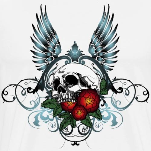 Skull Rose & Wing - Maglietta Premium da uomo