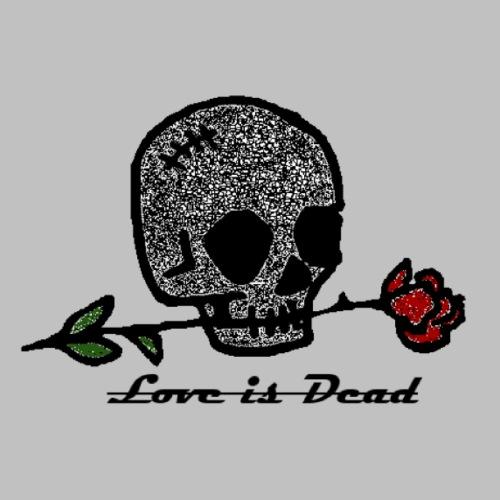 Love Is Dead Custom Skull Design - Mannen Premium T-shirt