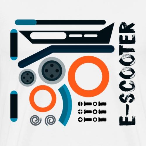 Auseinander gebauter Escooter - Männer Premium T-Shirt