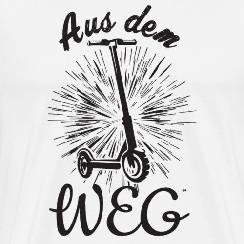 Elektro Roller, Aus dem Weg - Männer Premium T-Shirt
