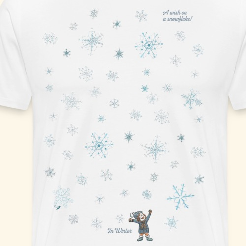 A wish on a snowflake - Winter - Hochformat - Männer Premium T-Shirt