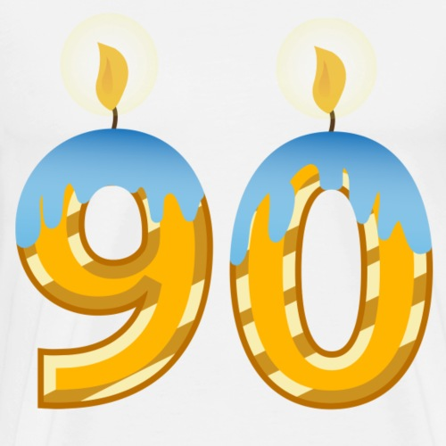 90th Birthday party celebration lite candles - Men's Premium T-Shirt