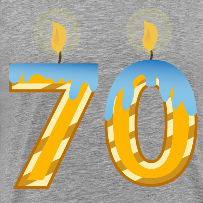 70th Birthday with Lite candles design