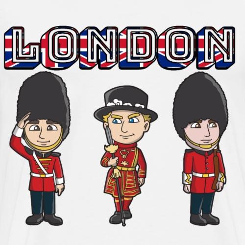 London Beefeater & Queens Guards - Men's Premium T-Shirt