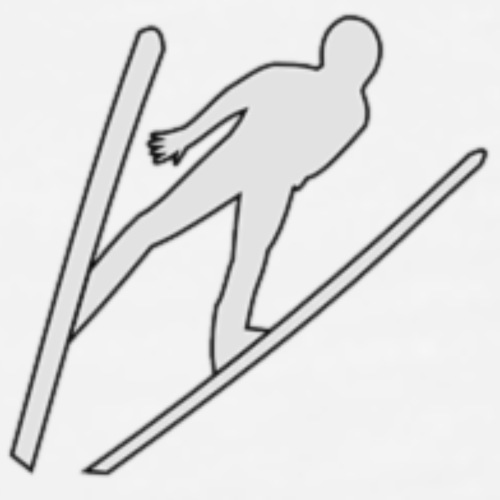 Small skijumper - Premium T-skjorte for menn