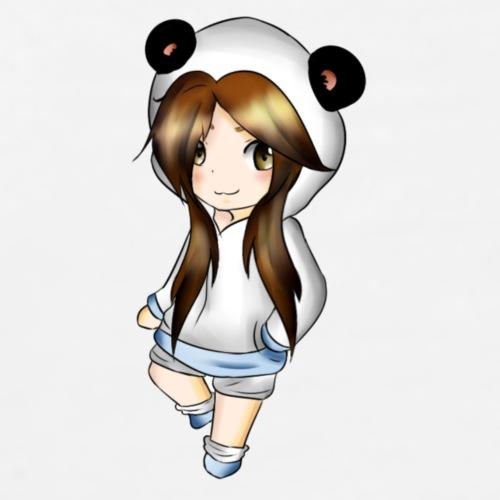 Panda Girl Chibi - Maglietta Premium da uomo
