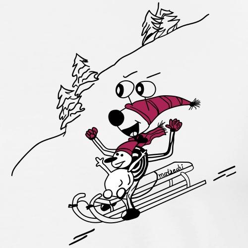 matrechi ist flott mit Schneemann Paul unterwegs - Männer Premium T-Shirt
