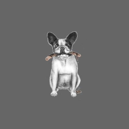 French Bulldog with Churro - Men's Premium T-Shirt
