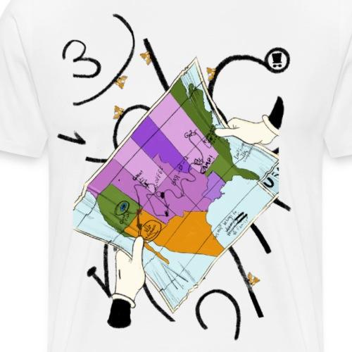 Mappa del viaggio - Maglietta Premium da uomo