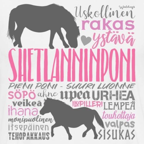 Sheltti Sanat III - Miesten premium t-paita