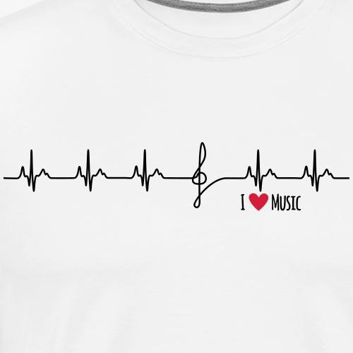 I love music (key) - Männer Premium T-Shirt